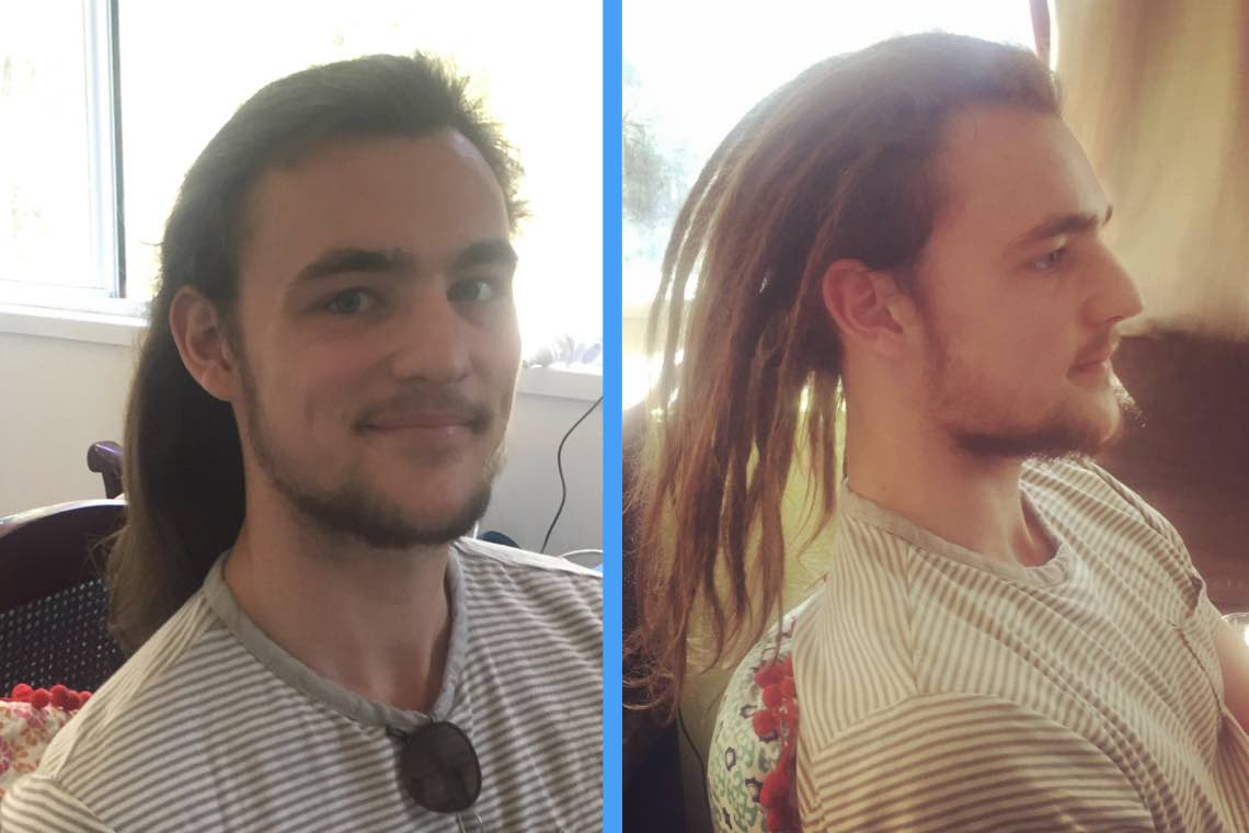 Dreadlocks Before and After