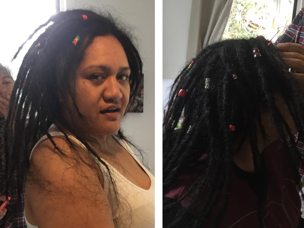 Pacific island hair takes really well to dreadlocks. The hairstyle also helps to tame a frizzy hair type and give people more options to how they wear their hair.