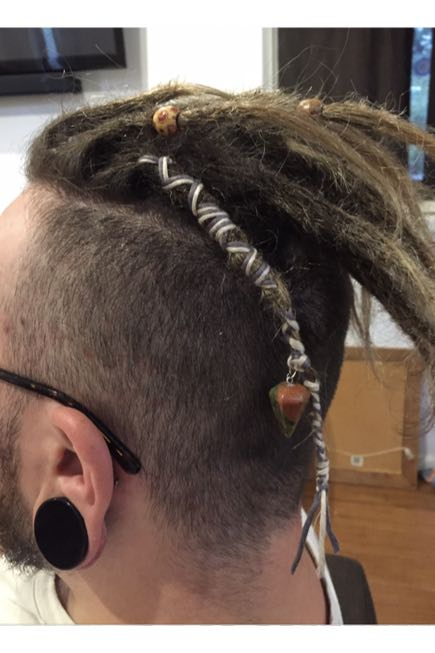 Dreads in a Mohawk