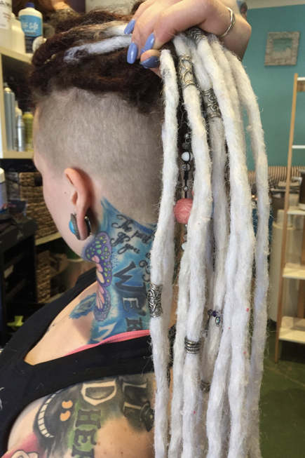 Dreads with undercut