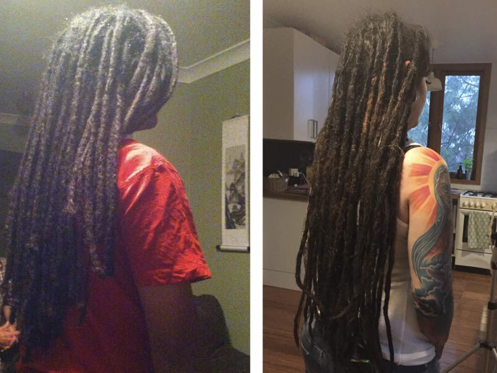 It is pretty satisfying to work with someone who gets new dreads and then you see them develop into rich, long, locs a few years down the track.