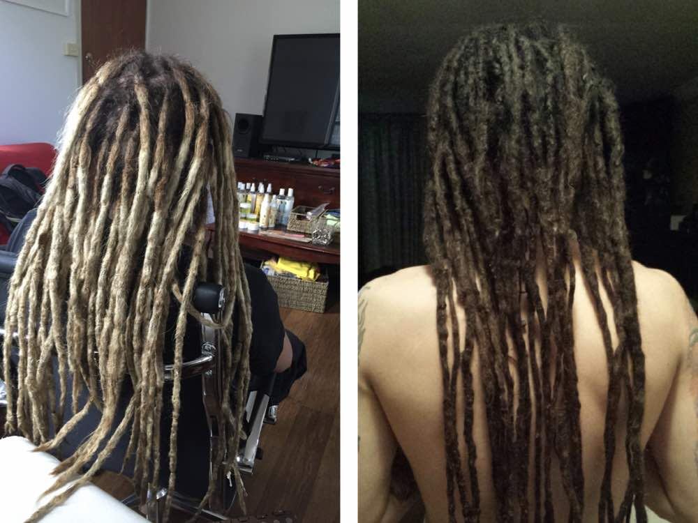 How to make dreadlocks get this sort of length? Instantly with dread extensions, else a lot of time and patience as your locs go through the maturing process.