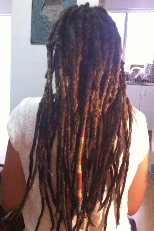 Fresh dreadlocks created with love using a chemical free, gentle crochet method.