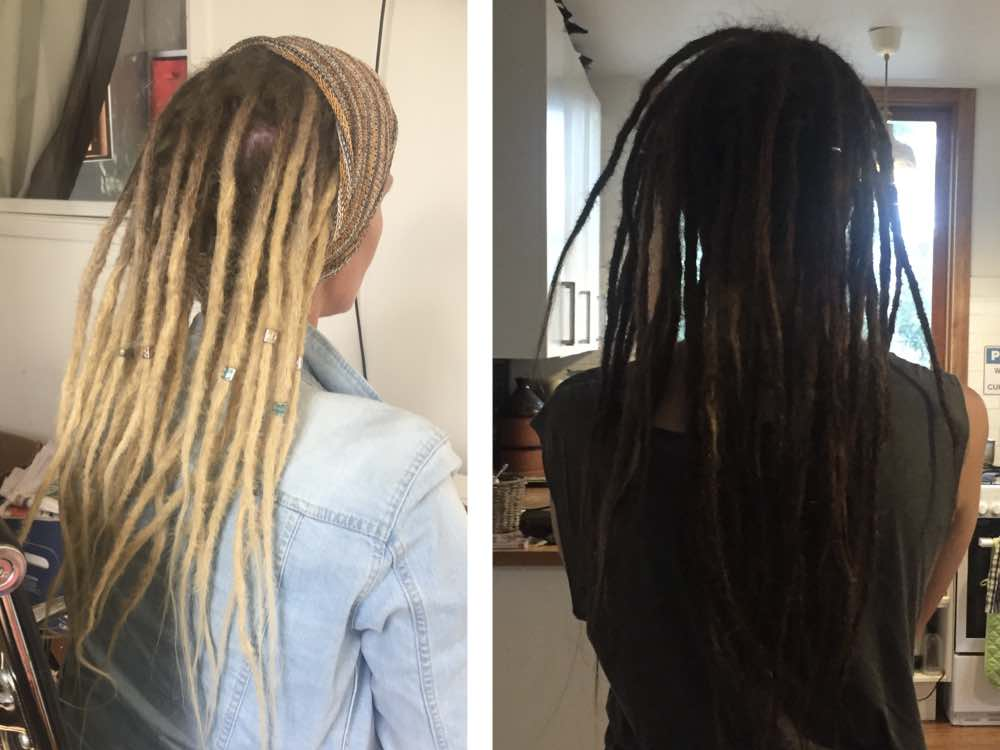 Whether thin dreadlock extensions or medium ones, dreads look great when they're more than shoulder length, something that extensions let you achieve from day 1.